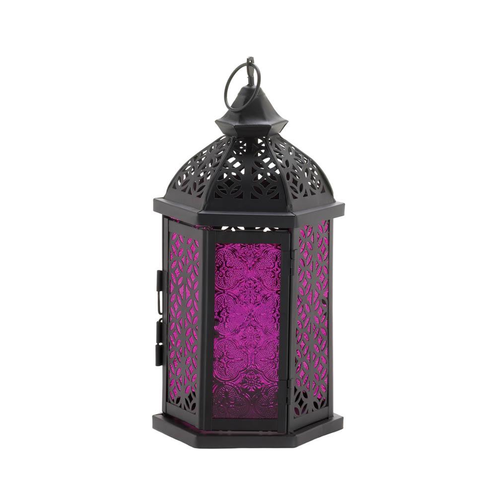 Exotic Purple Candle Lantern