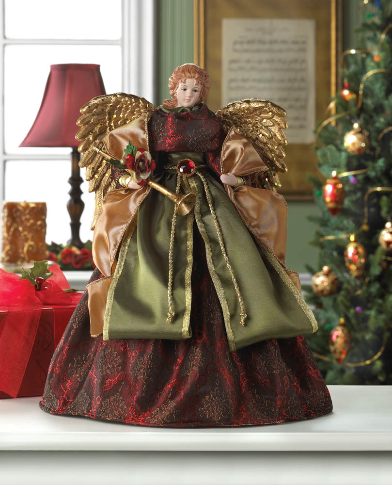 Wholesale christmas angel doll tree topper buy wholesale christmas decor for Angel of the north christmas decoration