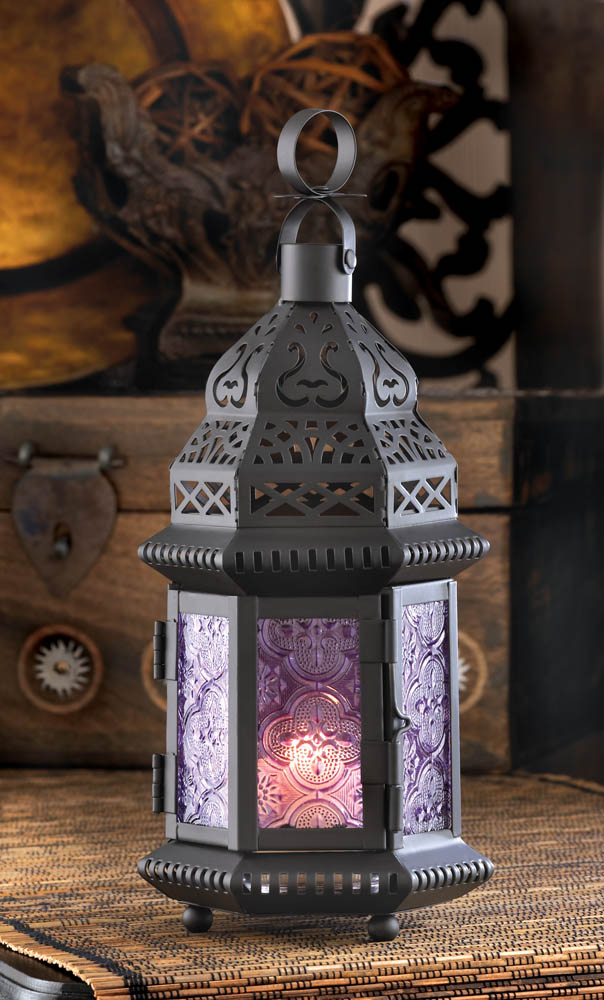 Wholesale Purple Moroccan Style Lantern for sale at bulk cheap prices!