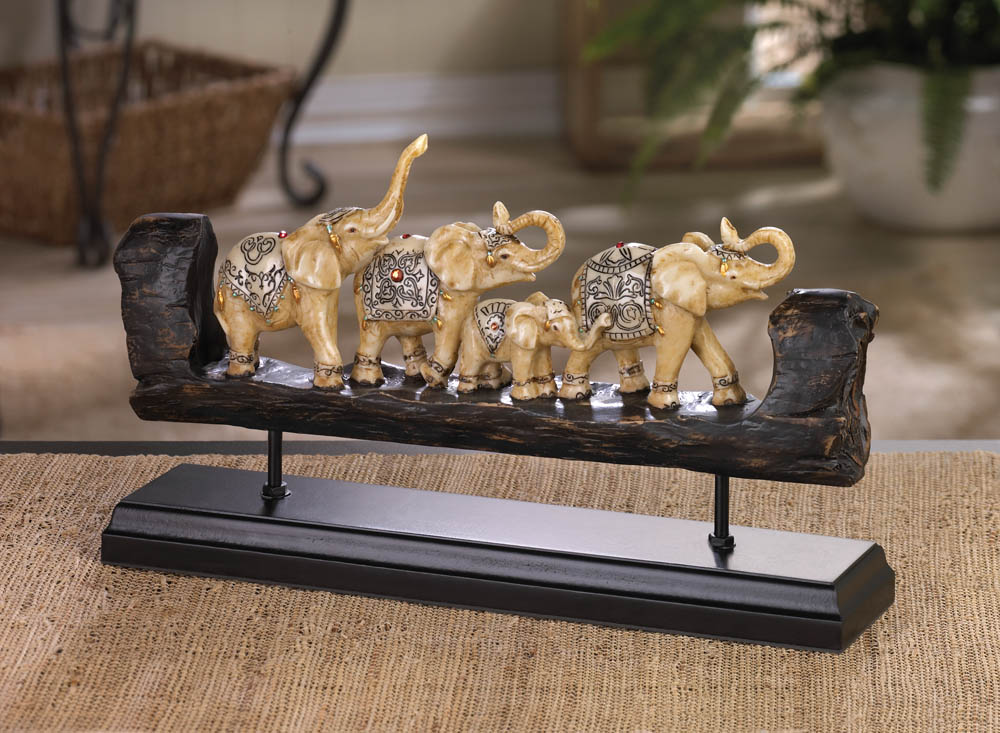 Wholesale elephant family carved decor buy wholesale for Wholesale decor