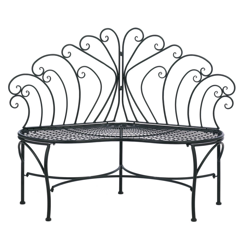 Peacock-Inspired Patio Bench
