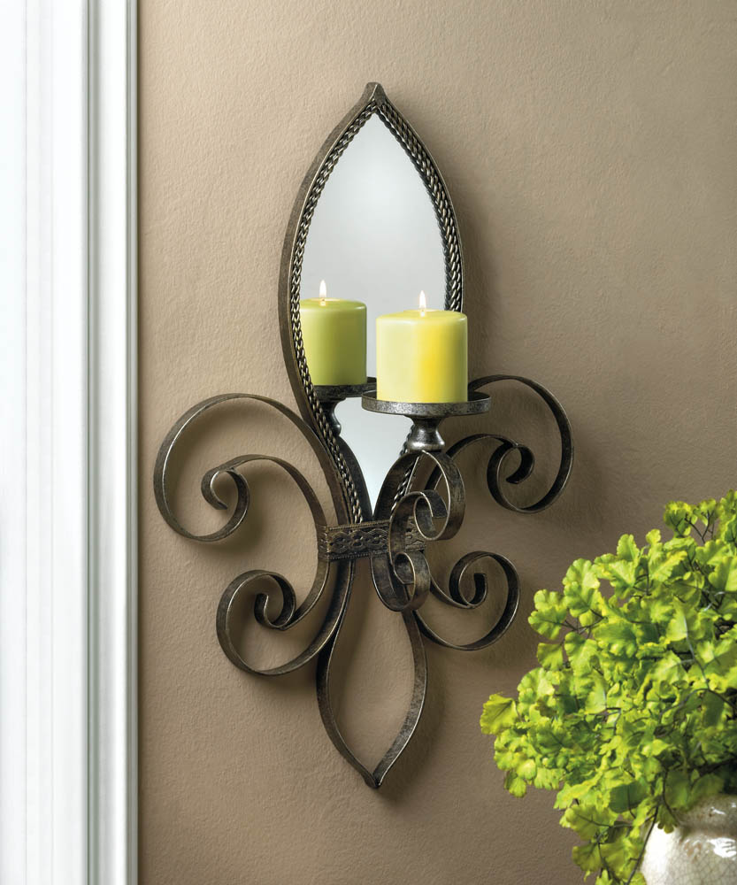 gold detail product kathy round candle home sol mirrored sconce antique leaf kuo style french