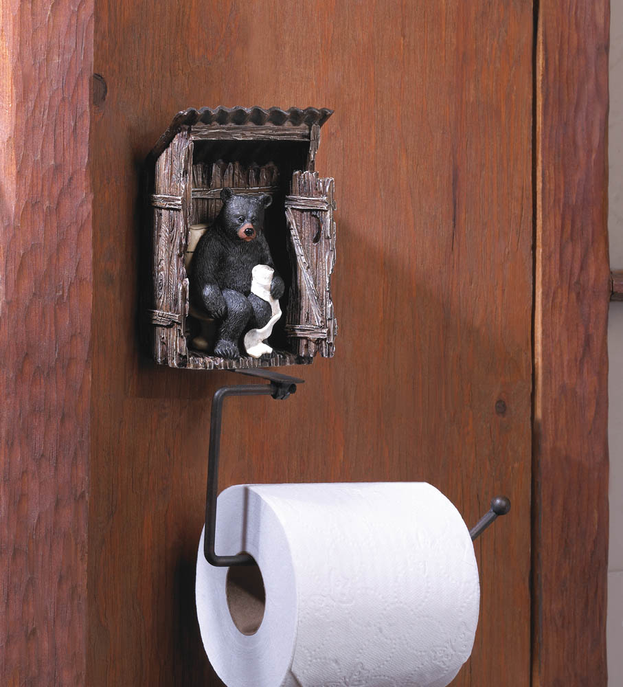 Wholesale Bear Outhouse Toilet Paper Holder Buy