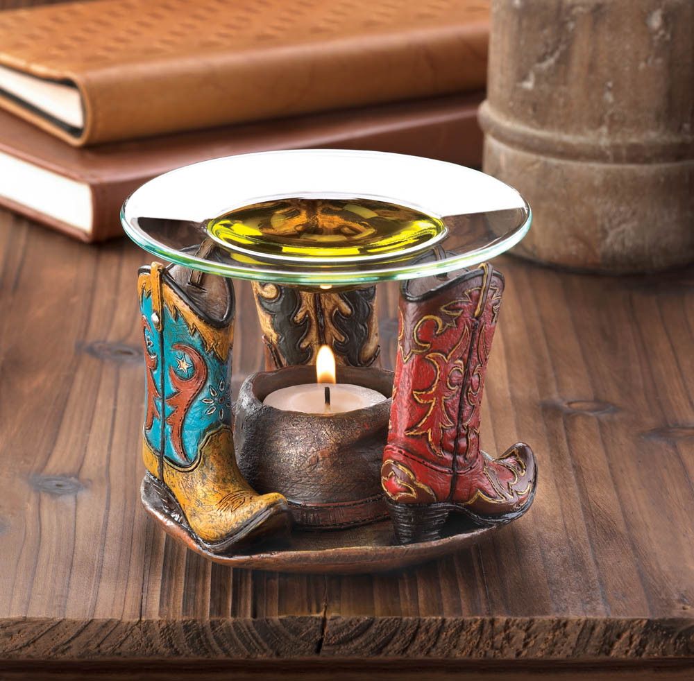 Wholesale cowboy boots oil warmer buy wholesale oil burners and warmers - Candle home decor photos ...