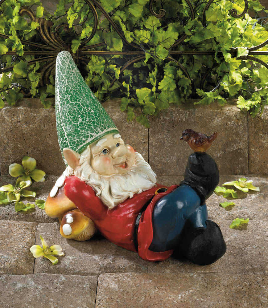 Wholesale lazy gnome solar statue buy wholesale gnomes for Gnome 3 decoration fenetre