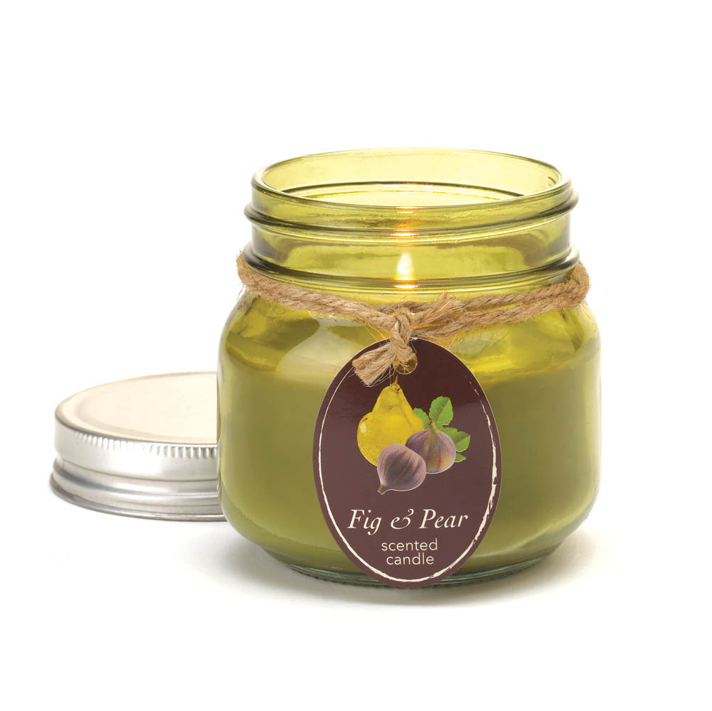 wholesale fig pear mason jar candle buy wholesale candles. Black Bedroom Furniture Sets. Home Design Ideas