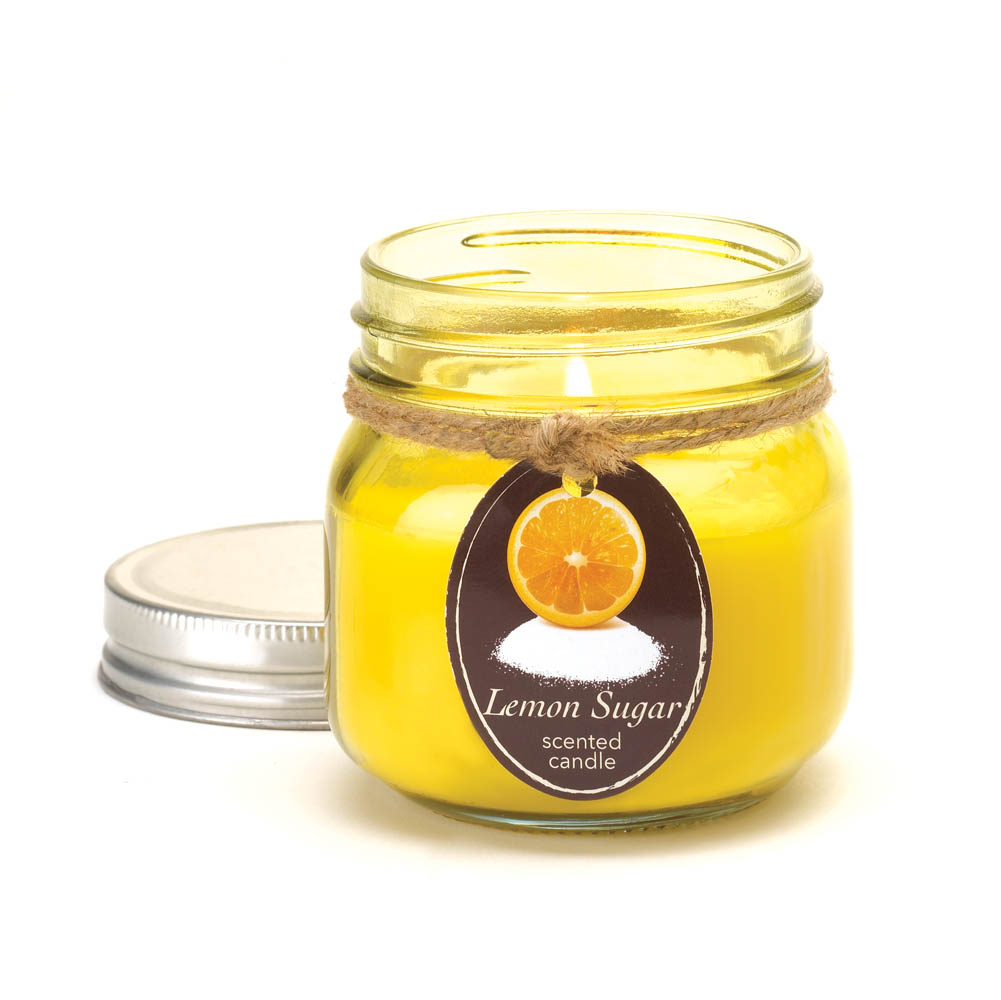 Wholesale Lemon Sugar Mason Jar Candle for sale at  bulk cheap prices!