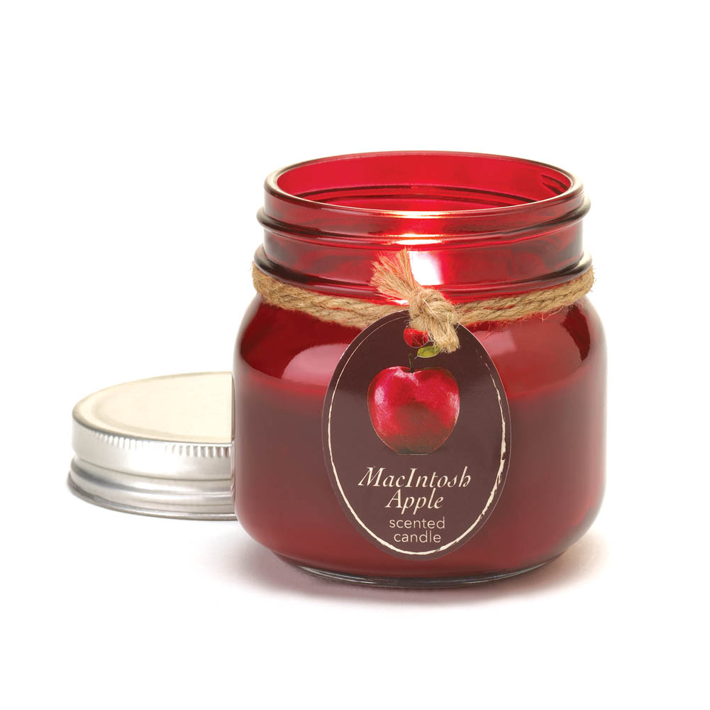 Wholesale Macintosh Apple Mason Jar Candle for sale at  bulk cheap prices!