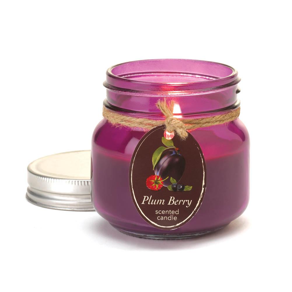 Wholesale Plum Berry Mason Jar Candle for sale at  bulk cheap prices!