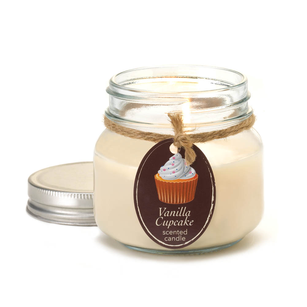 wholesale vanilla cupcake mason jar candle buy wholesale candles. Black Bedroom Furniture Sets. Home Design Ideas
