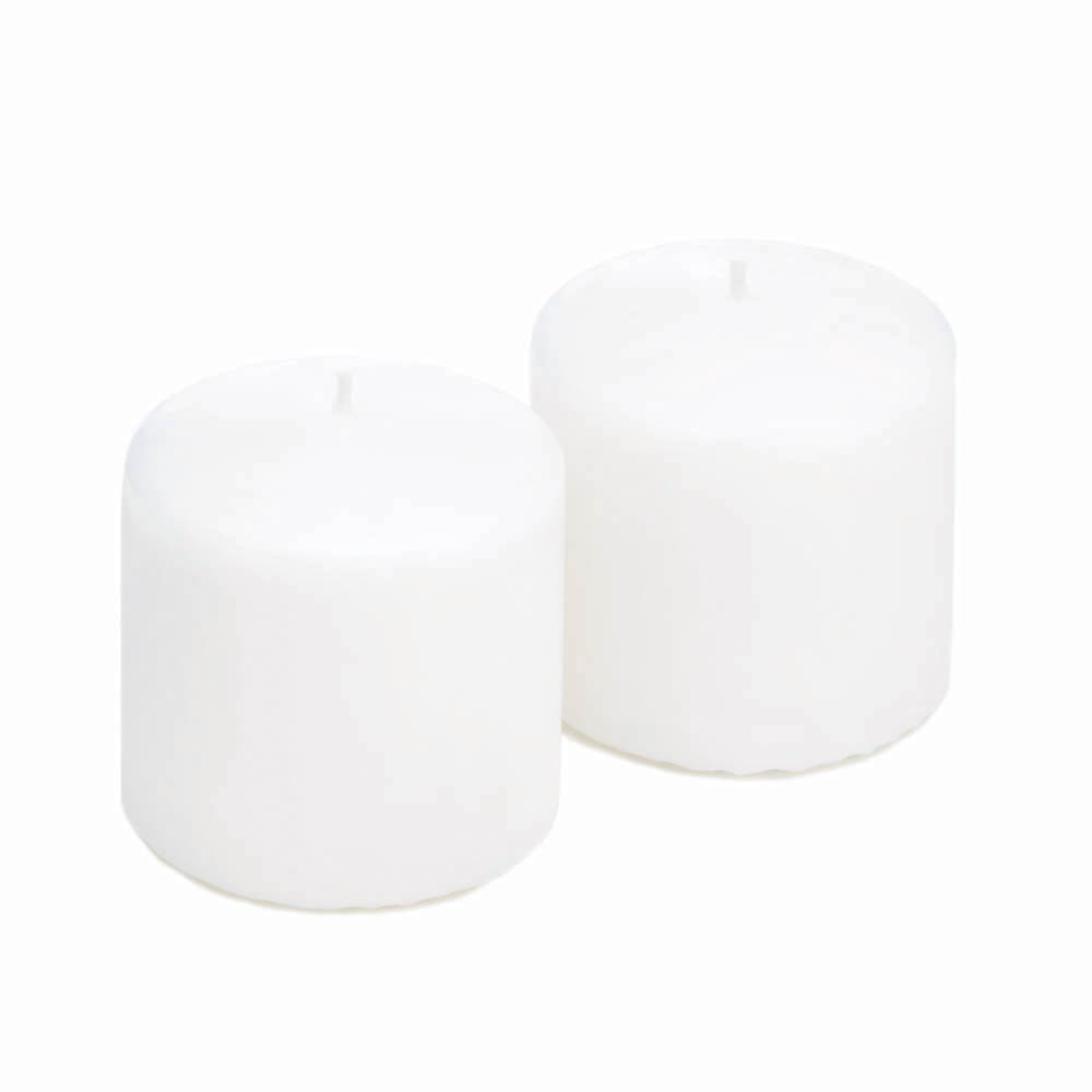 """Wholesale 3""""  White Pillar Candles for sale at  bulk cheap prices!"""