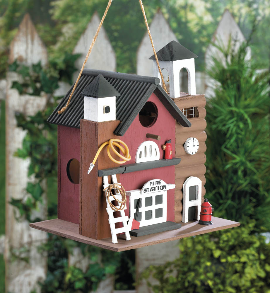 Wholesale Fire Station Birdhouse for sale at bulk cheap prices!