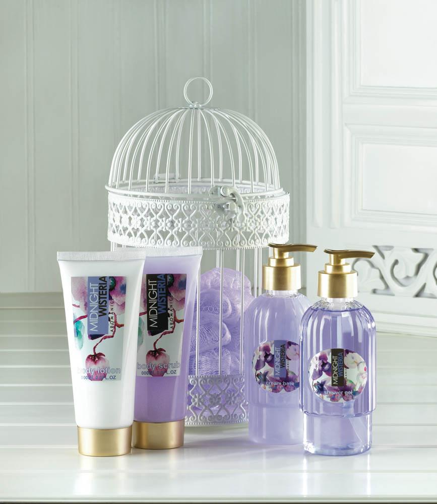 Wholesale Midnight Wisteria Lantern Spa Set - Buy Wholesale Bath Sets