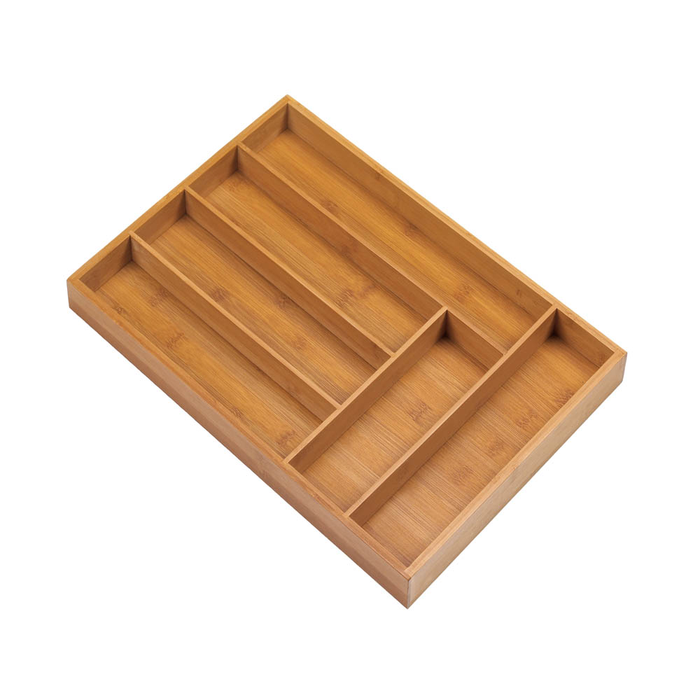 Wholesale Bamboo Cutlery 6-Place Tray Organizer for sale at bulk cheap prices!