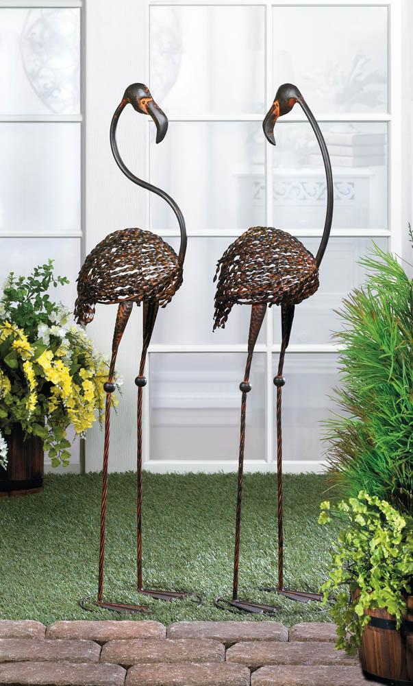 Wholesale Wild Flamingo Garden Art Duo - Buy Wholesale Garden Statues