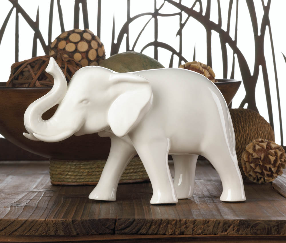 Small Elephant Decor: Wholesale Small White Ceramic Elephant