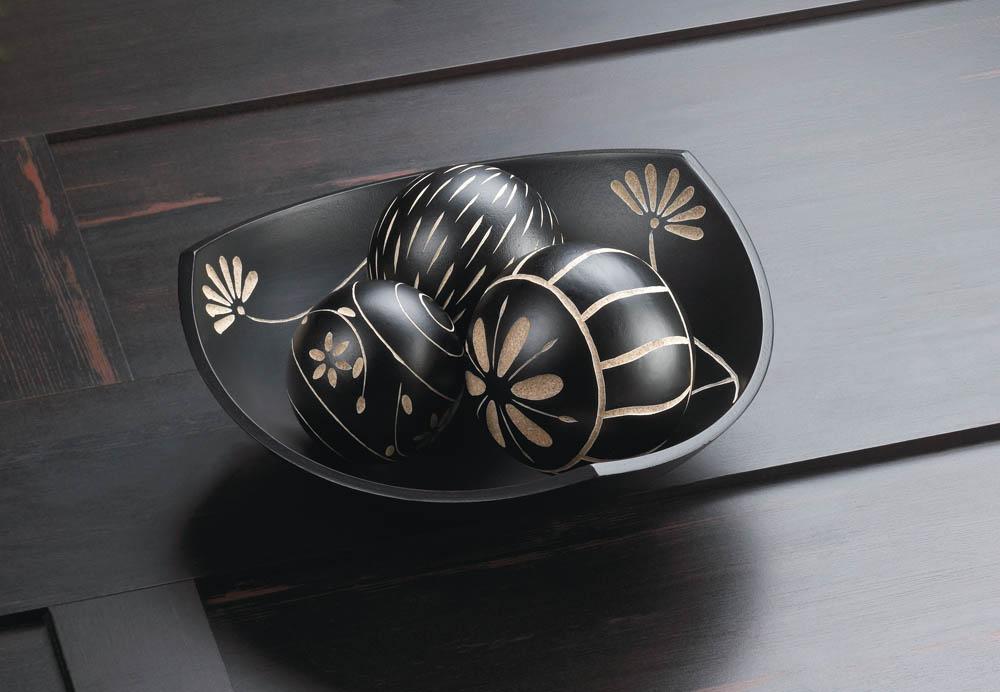 Black Decorative Balls For Bowls: Wholesale Artisan Tri-Point Bowl Decorative Balls