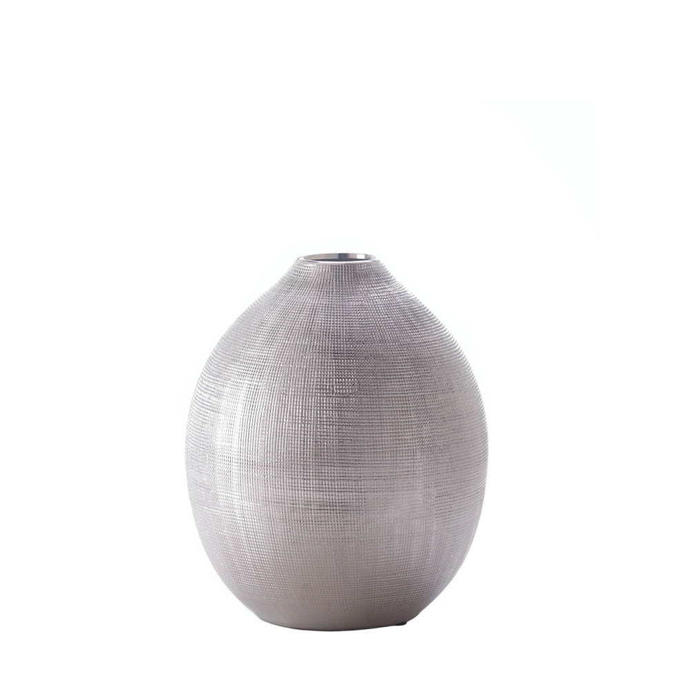 wholesale zeal round silver vase buy wholesalemart new products. Black Bedroom Furniture Sets. Home Design Ideas