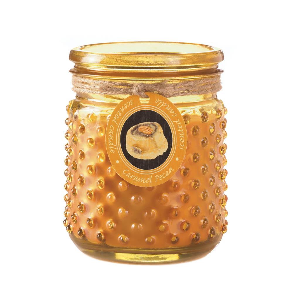 Wholesale Caramel Pecan Hobnail Jar Candle for sale at bulk cheap prices!