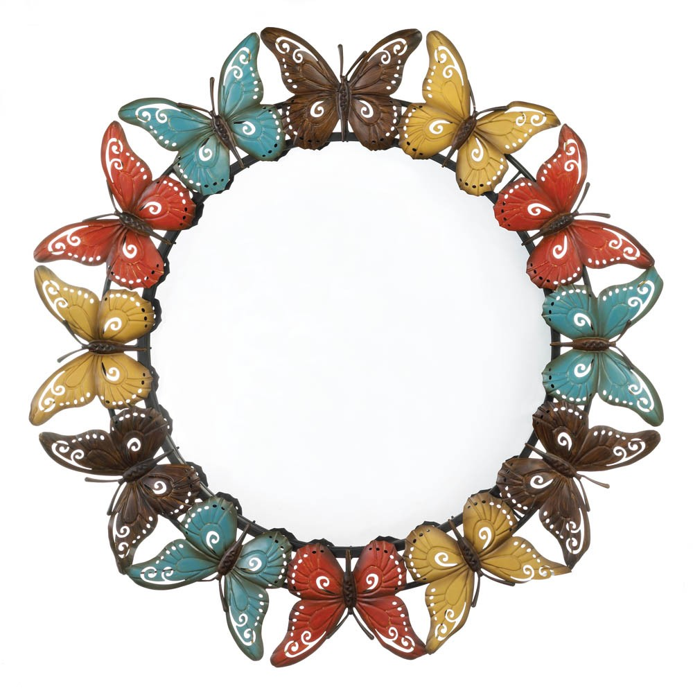 Wholesale colorful butterfly wall mirror buy wholesale for Wholesale mirrors