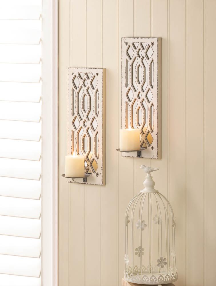 Wholesale Deco Mirror Wall Sconce Set - Buy Wholesale Candle Sconces