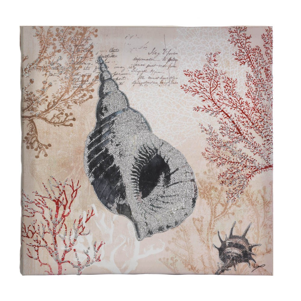 Wholesale spiral conch shell canvas wall art buy for Buy canvas wall art