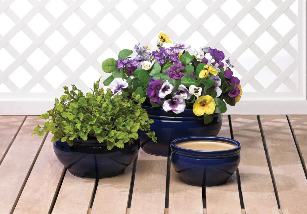 Wholesale Ocean Blue Planter Trio For Sale At Bulk Cheap Prices!