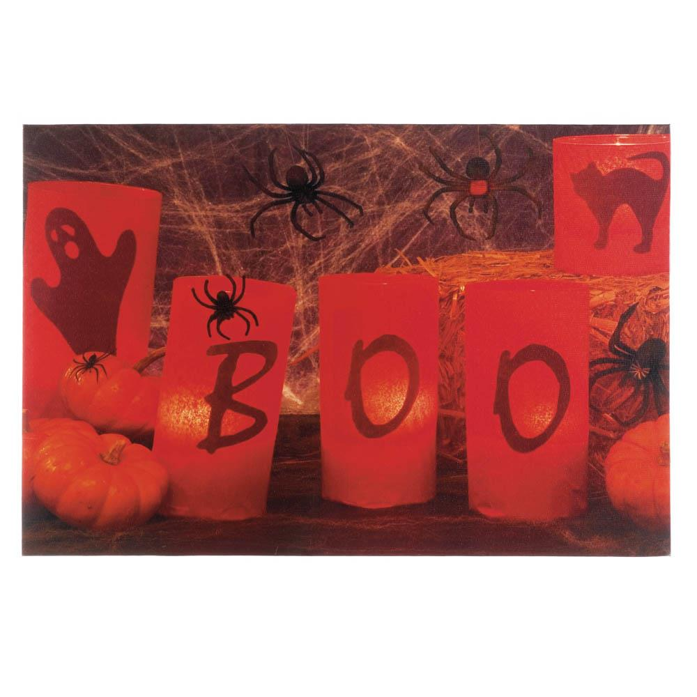 wholesale boo halloween led wall art for sale at bulk cheap prices - Halloween Decoration Sales