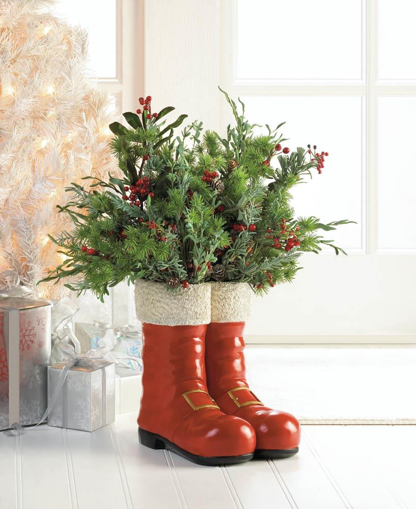 wholesale santa red boots decorative vase for sale at bulk cheap prices - Wholesale Country Christmas Decor