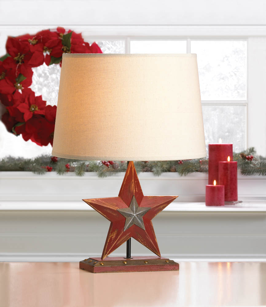 Wholesale Farmhouse Red Star Table Lamp - Buy Wholesale Lamps