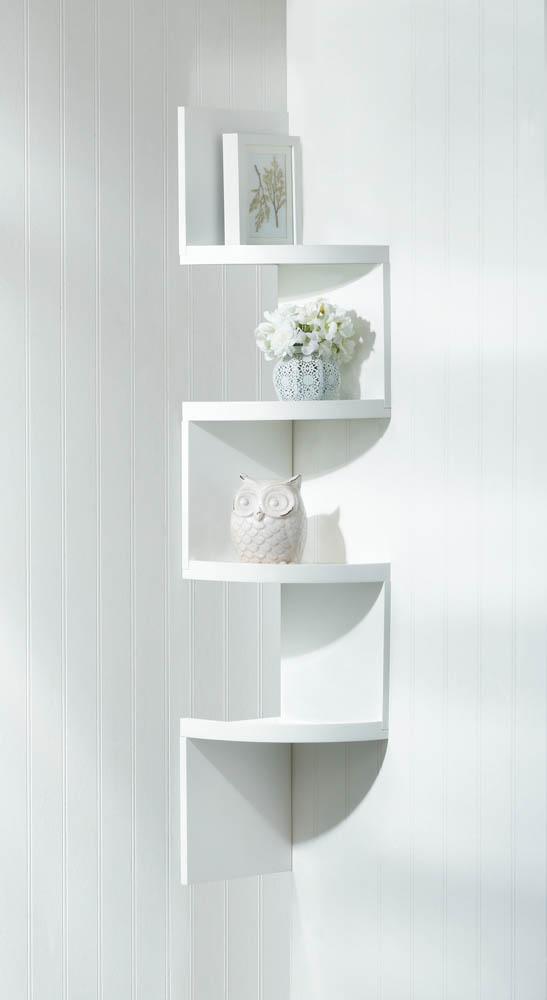 wholesale white 4 tier corner shelf for sale at bulk cheap prices - White Corner Bookshelves