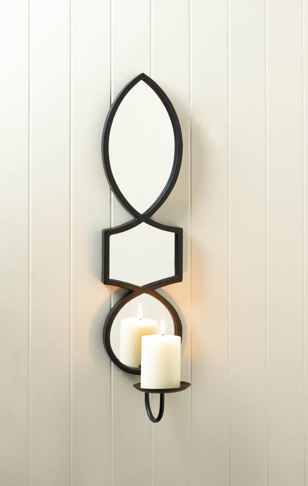black mounted barn holder iron of modern holders size sconces wholesale gold mirrored for centerpiece candle full geometric pottery target wall sconce wrought