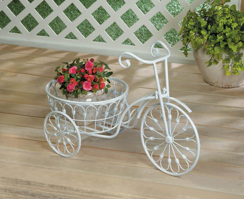 Wholesale White Bicycle Planter Buy Wholesale Garden Planters