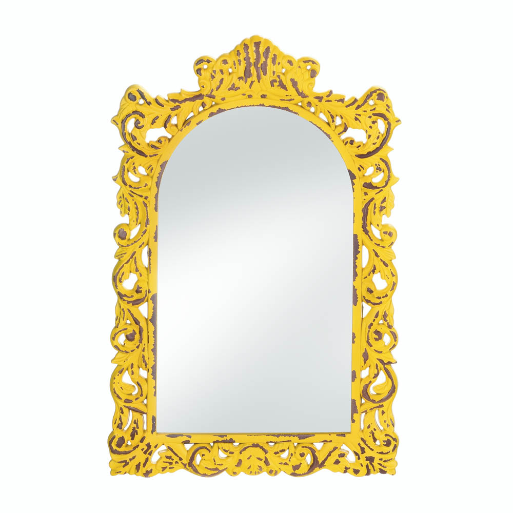 Wholesale Opulent Distressed Yellow Wall Mirror Buy Wholesale Mirrors - Unique-wall-mirrors-from-opulent-items