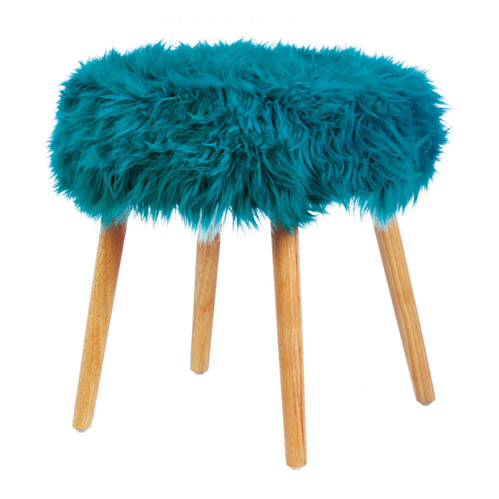 Swell Wholesale Turquoise Faux Fur Stool Caraccident5 Cool Chair Designs And Ideas Caraccident5Info