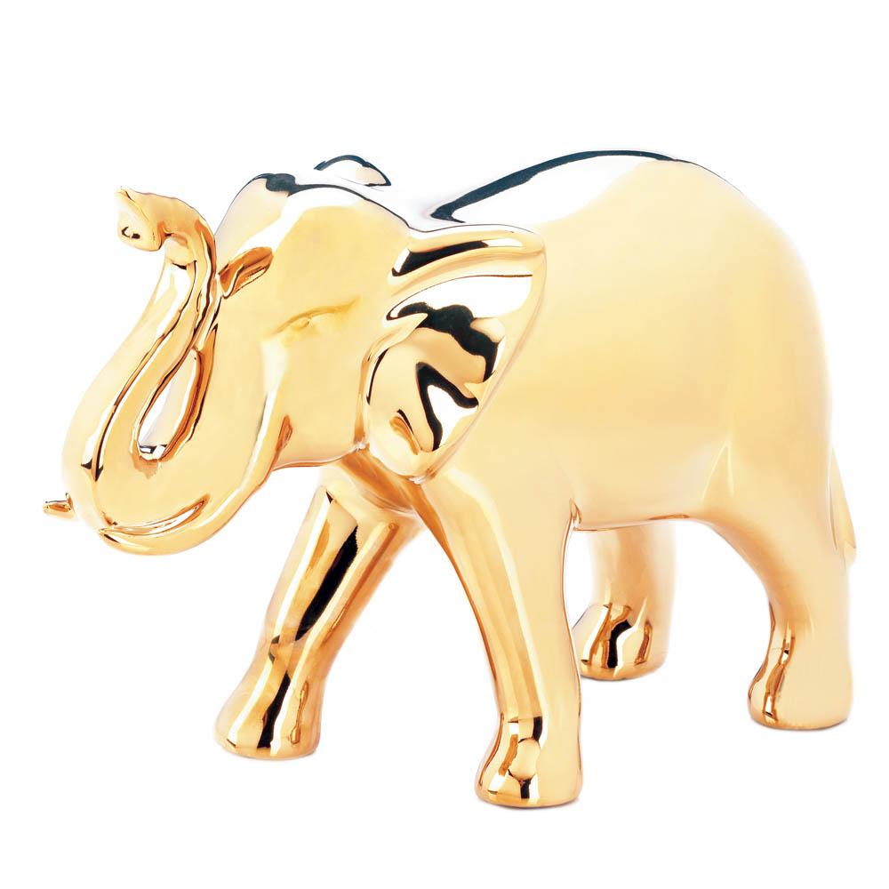 Wholesale Large Golden Elephant Figure