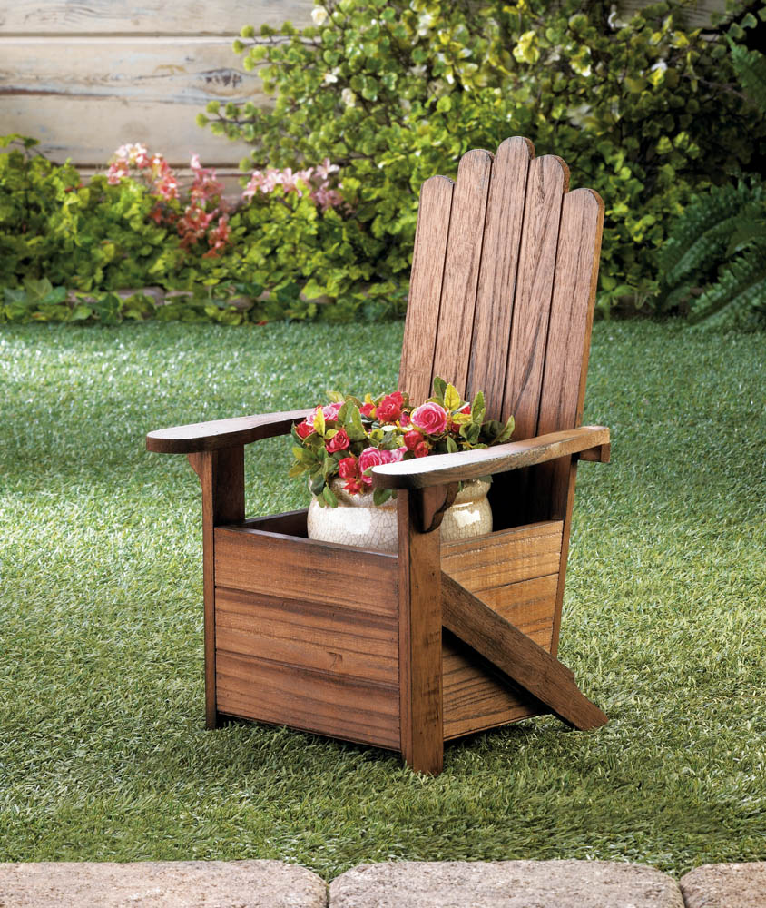 Wholesale Wooden Adirondack Chair Planter For Sale At Bulk Cheap Prices!