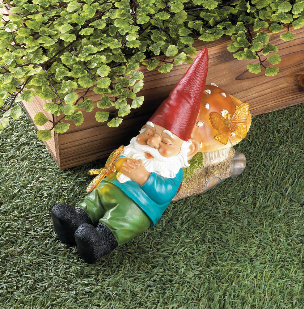 Wholesale Solar Powered Sleepy Gnome Buy Wholesale Garden Statues