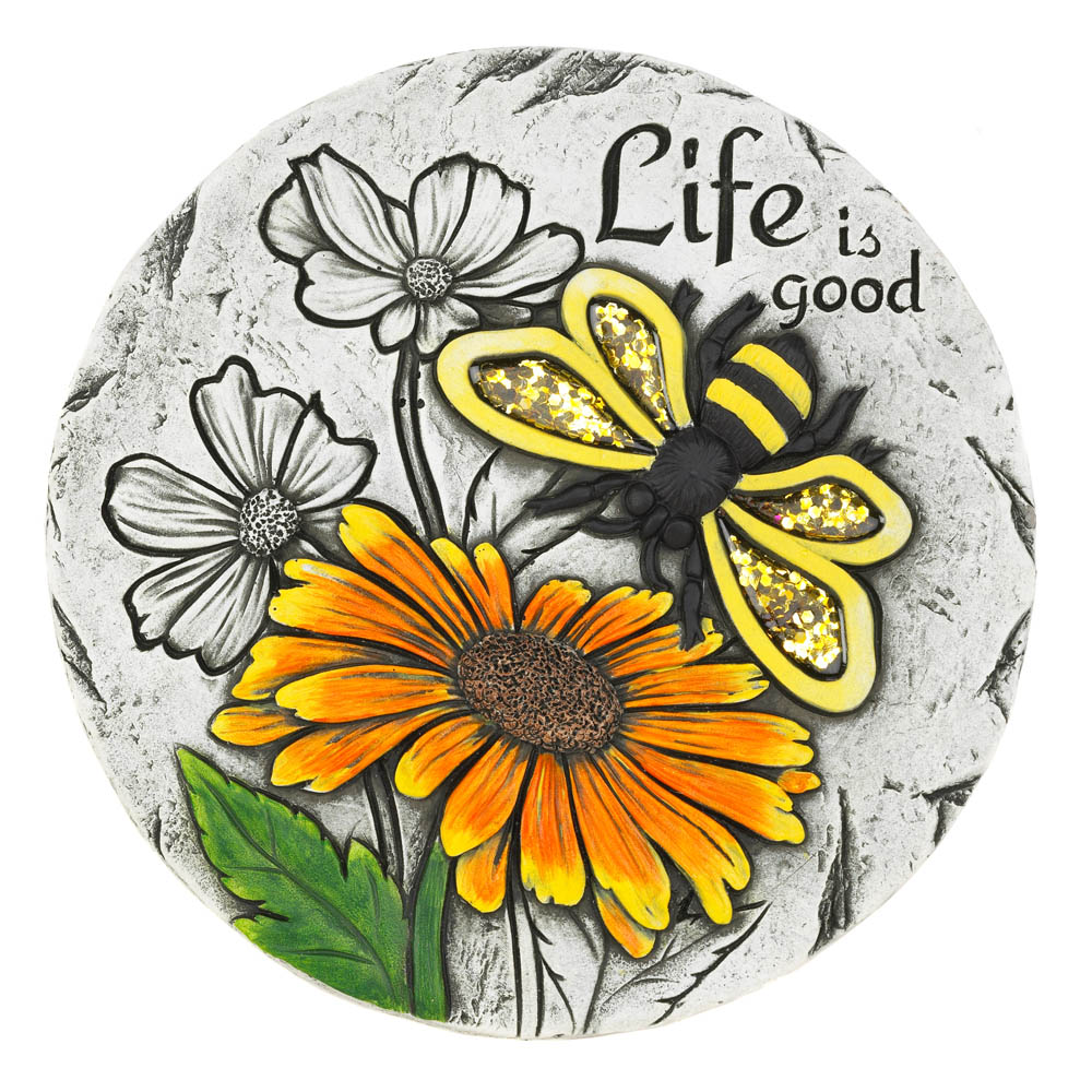 Wholesale Life Is Good Sunflower Stepping Stone
