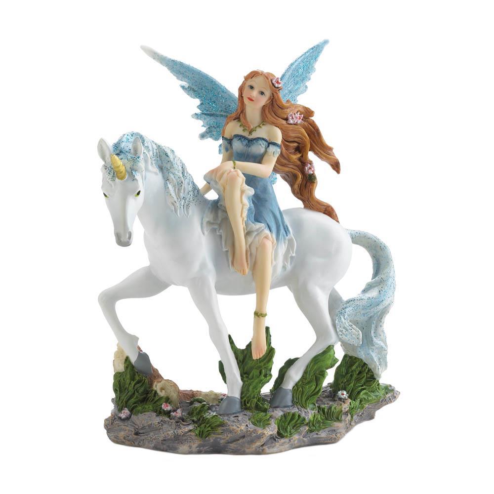 Wholesale Blue Fairy And Unicorn Figurine
