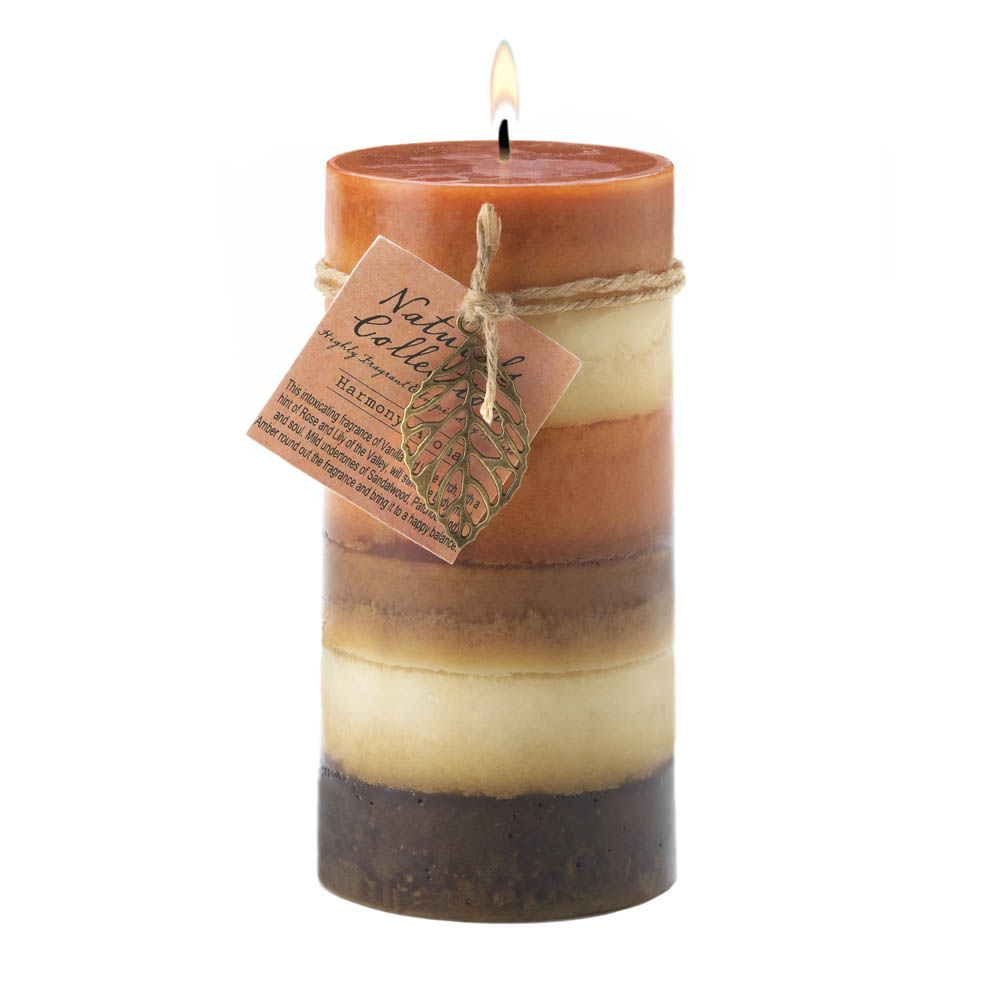 Wholesale Harmony Leaf Tall Pillar Candle for sale at  bulk cheap prices!