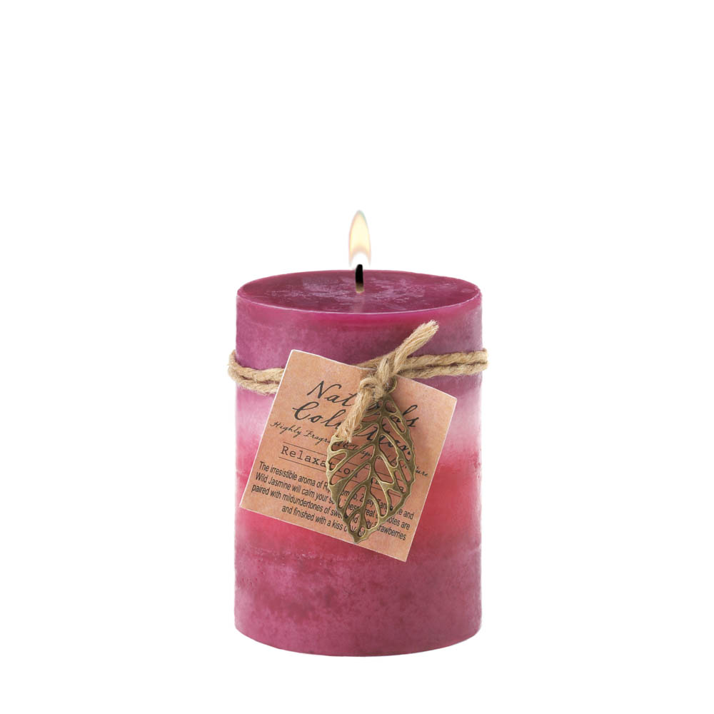Wholesale Relaxation Leaf Pillar Candle for sale at  bulk cheap prices!