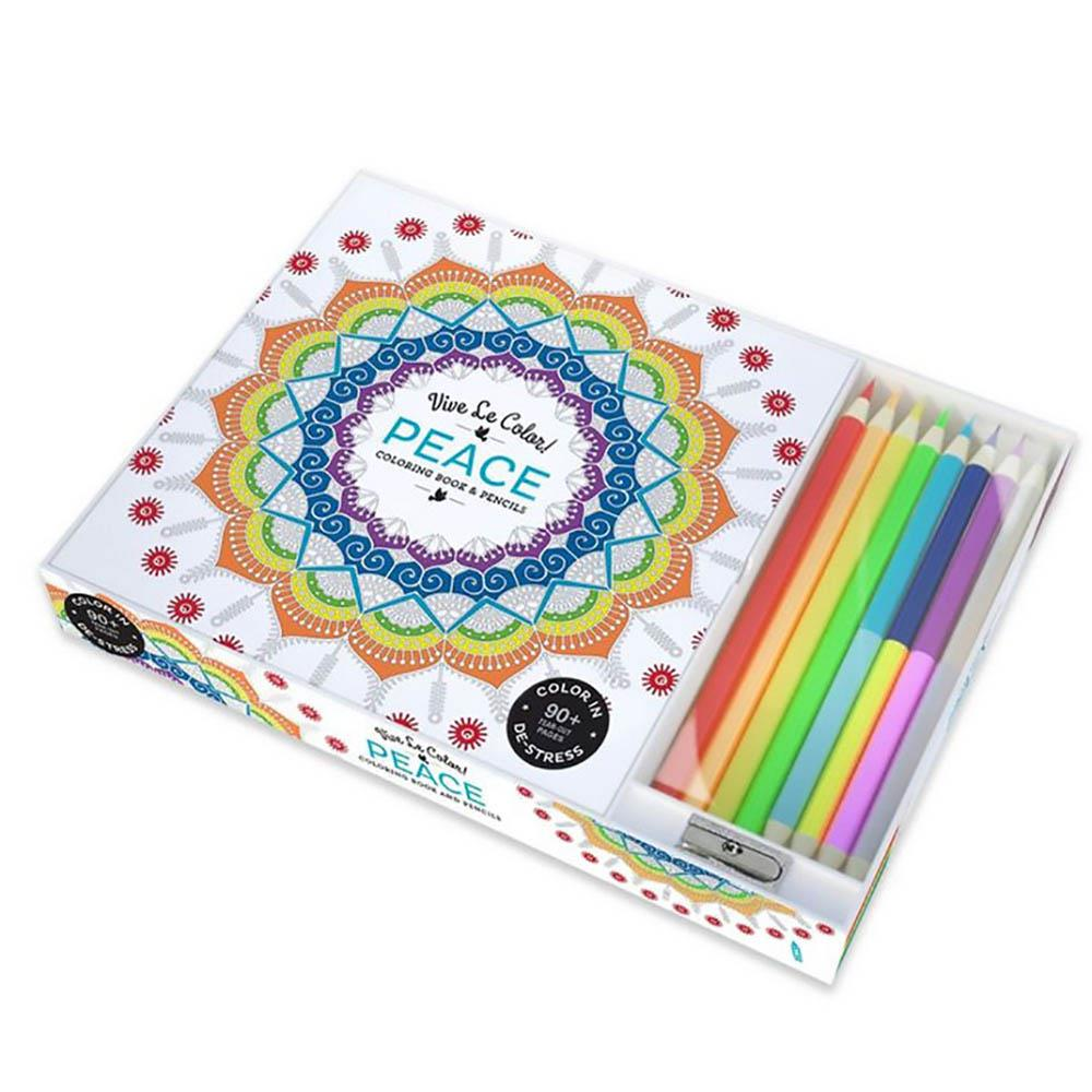 Wholesale Peace Adult Coloring Book With Pencils - Buy Wholesale ...