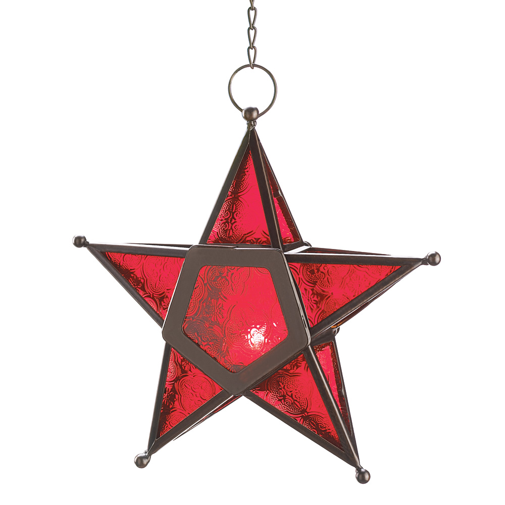 Wholesale Red Glass Star Lantern for sale at bulk cheap prices!