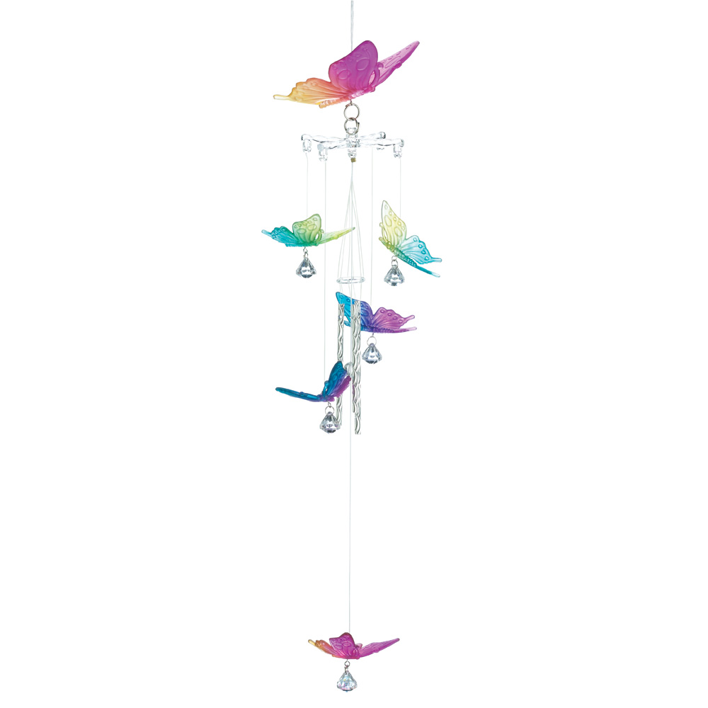 Wholesale Rainbow Butterfly Windchime for sale at  bulk cheap prices!