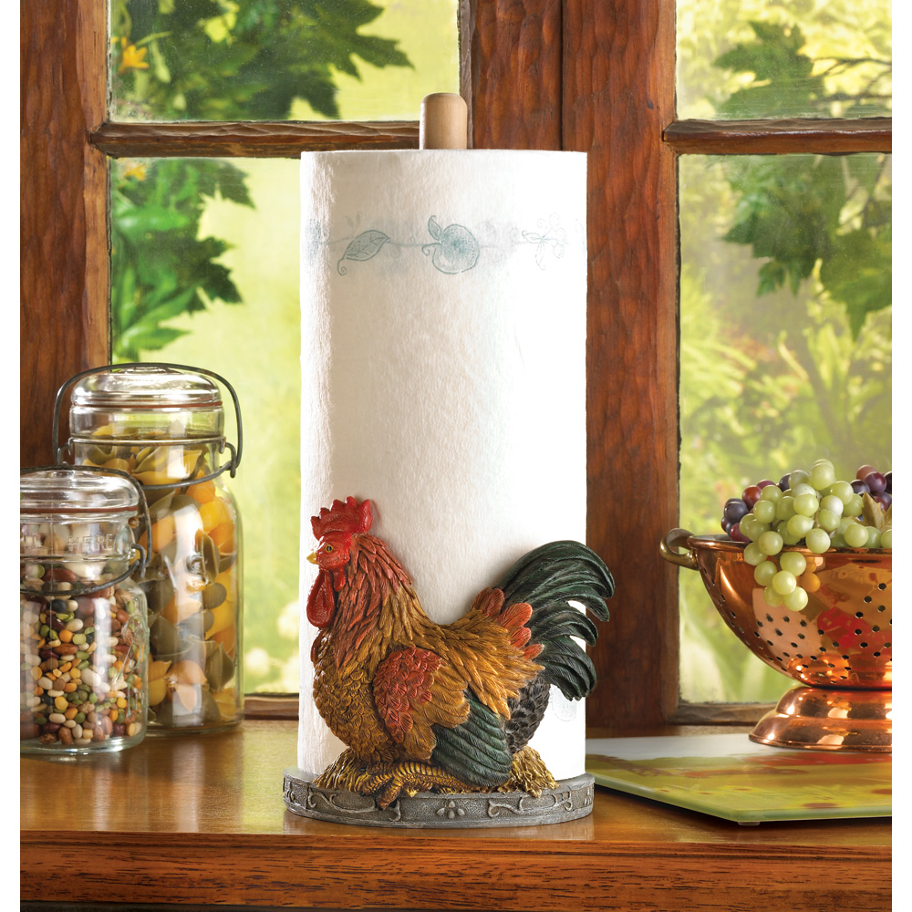 wholesale country rooster paper towel holder buy wholesale bath and body. Black Bedroom Furniture Sets. Home Design Ideas