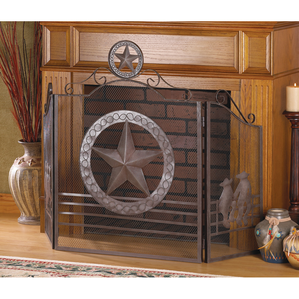 Wholesale Lone Star Fireplace Screen