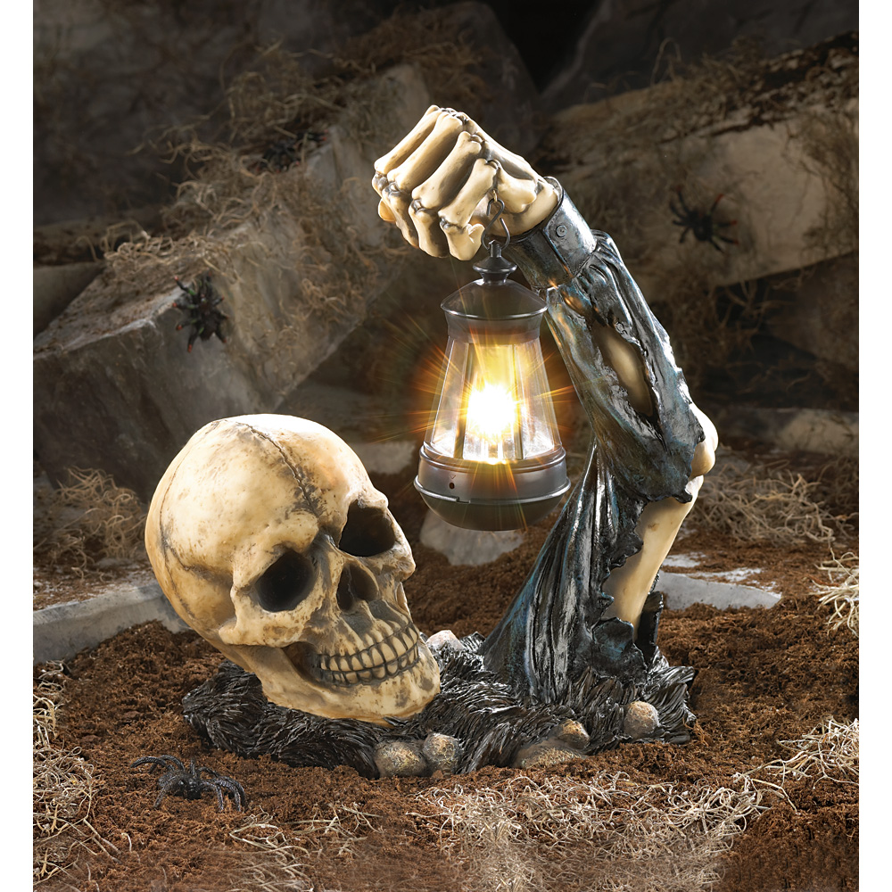 wholesale sinister skull with lantern - buy wholesale halloween decor