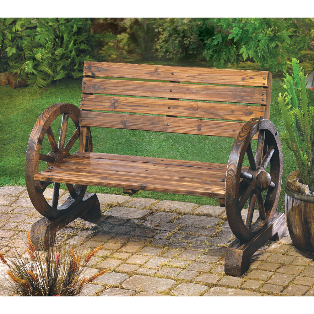 High Quality Wholesale Wagon Wheel Bench For Sale At Bulk Cheap Prices! Awesome Design