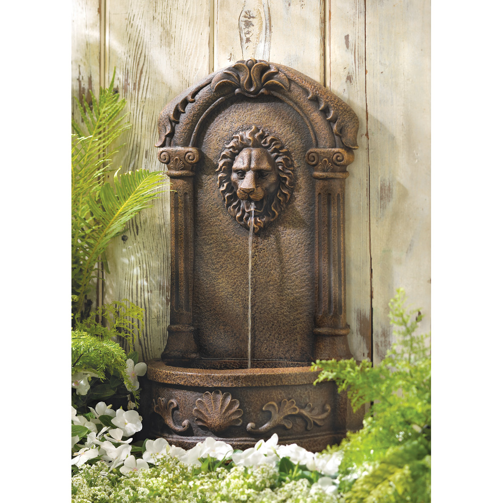 Wholesale Lion\'s Head Courtyard Fountain - Buy Wholesale Fountains
